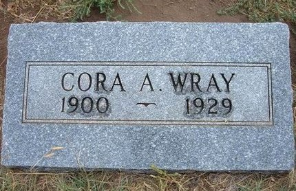 WRAY, CORA A - Baca County, Colorado | CORA A WRAY - Colorado Gravestone Photos