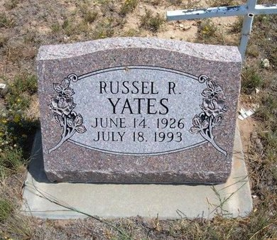 YATES, RUSSELL R - Baca County, Colorado | RUSSELL R YATES - Colorado Gravestone Photos