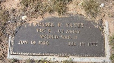 YATES (VETERAN WWII), RUSSELL R - Baca County, Colorado | RUSSELL R YATES (VETERAN WWII) - Colorado Gravestone Photos