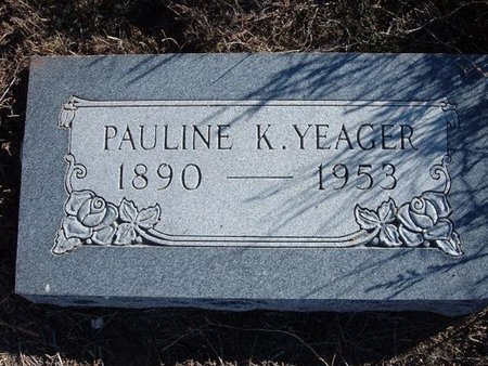 YEAGER, PAULINE K - Baca County, Colorado | PAULINE K YEAGER - Colorado Gravestone Photos