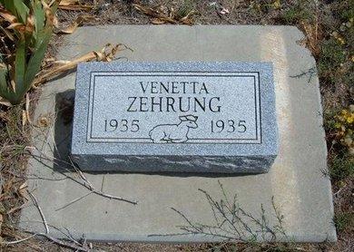 ZEHRUNG, VENETTA - Baca County, Colorado | VENETTA ZEHRUNG - Colorado Gravestone Photos