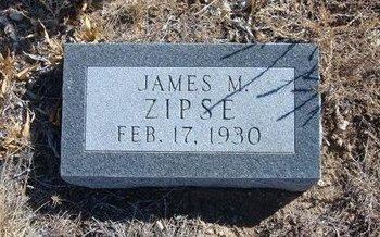 ZIPSE, JAMES M - Baca County, Colorado | JAMES M ZIPSE - Colorado Gravestone Photos