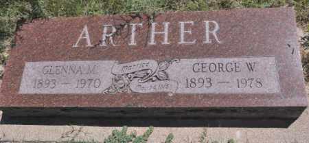 ARTHER, GLENNA M. - Bent County, Colorado | GLENNA M. ARTHER - Colorado Gravestone Photos