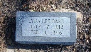 BARE, LYDA LEE - Bent County, Colorado | LYDA LEE BARE - Colorado Gravestone Photos