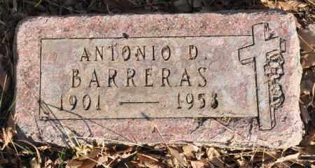 BARRERAS, ANTONIO D. - Bent County, Colorado   ANTONIO D. BARRERAS - Colorado Gravestone Photos