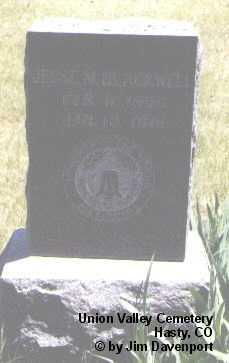 BLACKWELL, JESSE M. - Bent County, Colorado | JESSE M. BLACKWELL - Colorado Gravestone Photos