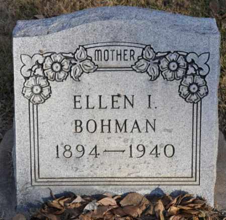 BOHMAN, ELLEN I. - Bent County, Colorado   ELLEN I. BOHMAN - Colorado Gravestone Photos