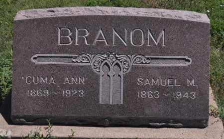 BRANOM, SAMUEL M - Bent County, Colorado | SAMUEL M BRANOM - Colorado Gravestone Photos