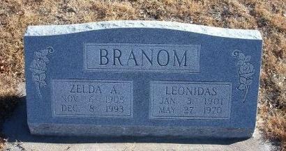 BRANOM, LEONIDAS - Bent County, Colorado | LEONIDAS BRANOM - Colorado Gravestone Photos