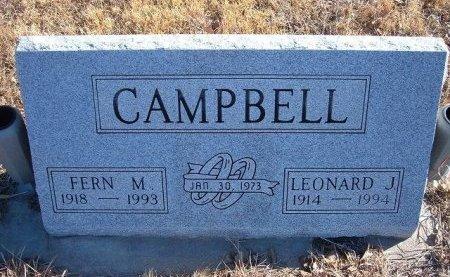 CAMPBELL, LEONARD J - Bent County, Colorado | LEONARD J CAMPBELL - Colorado Gravestone Photos