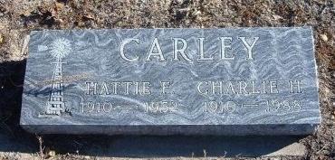 CARLEY, HATTIE F - Bent County, Colorado | HATTIE F CARLEY - Colorado Gravestone Photos