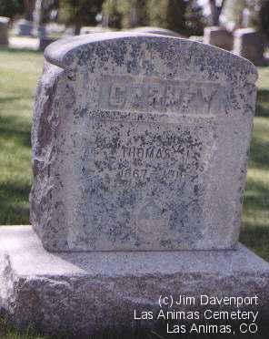 CARNEY, THOMAS J. - Bent County, Colorado | THOMAS J. CARNEY - Colorado Gravestone Photos