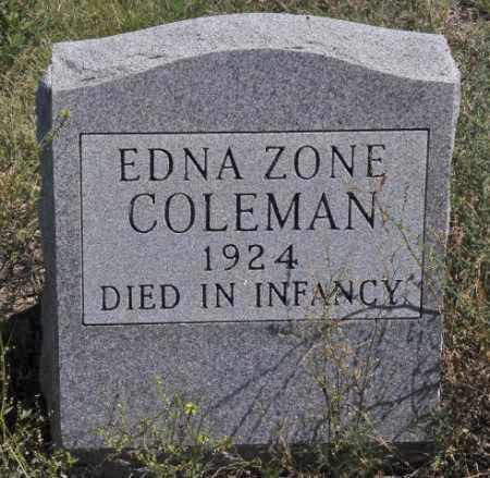 COLEMAN, EDNA ZONE - Bent County, Colorado | EDNA ZONE COLEMAN - Colorado Gravestone Photos