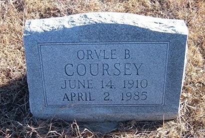 COURSEY, ORVLE B - Bent County, Colorado | ORVLE B COURSEY - Colorado Gravestone Photos