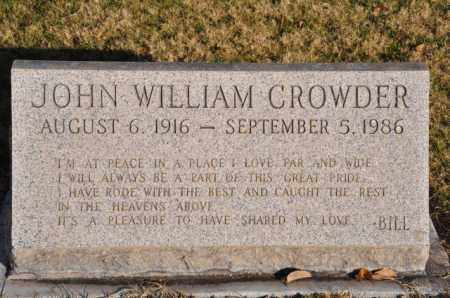 CROWDER, JOHN WILLIAM - Bent County, Colorado | JOHN WILLIAM CROWDER - Colorado Gravestone Photos