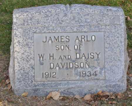 DAVIDSON, JAMES ARLO - Bent County, Colorado   JAMES ARLO DAVIDSON - Colorado Gravestone Photos