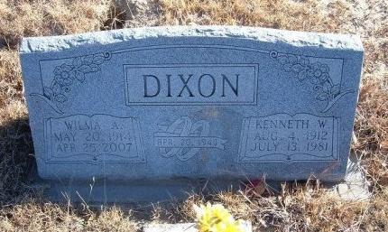DIXON, KENNETH W - Bent County, Colorado   KENNETH W DIXON - Colorado Gravestone Photos