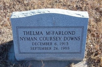 DOWNS, THELMA MCFARLOND COURSEY - Bent County, Colorado | THELMA MCFARLOND COURSEY DOWNS - Colorado Gravestone Photos