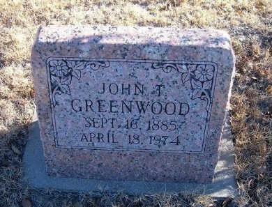 GREENWOOD, JOHN T - Bent County, Colorado   JOHN T GREENWOOD - Colorado Gravestone Photos