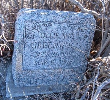 GREENWOOD, OLLIE MAY - Bent County, Colorado   OLLIE MAY GREENWOOD - Colorado Gravestone Photos