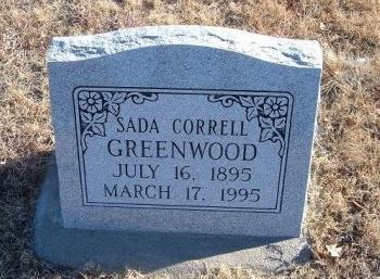 GREENWOOD, SADA  - Bent County, Colorado | SADA  GREENWOOD - Colorado Gravestone Photos