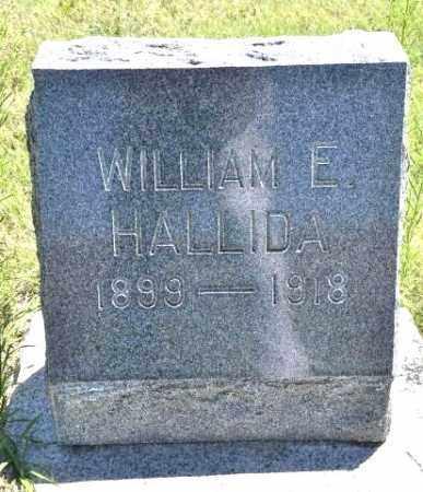 HALLIDA, WILLIAM E - Bent County, Colorado | WILLIAM E HALLIDA - Colorado Gravestone Photos