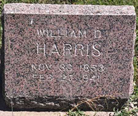 HARRIS, WILLIAM D - Bent County, Colorado   WILLIAM D HARRIS - Colorado Gravestone Photos