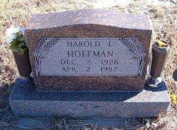 HOFFMAN, HAROLD L - Bent County, Colorado | HAROLD L HOFFMAN - Colorado Gravestone Photos