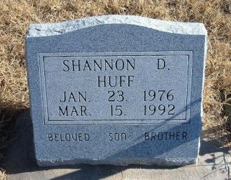 HUFF, SHANNON D - Bent County, Colorado   SHANNON D HUFF - Colorado Gravestone Photos