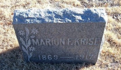 KRISE, MARION F - Bent County, Colorado   MARION F KRISE - Colorado Gravestone Photos