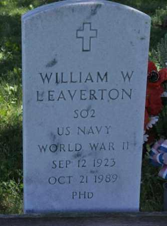 LEAVERTON, WILLIAM W - Bent County, Colorado | WILLIAM W LEAVERTON - Colorado Gravestone Photos