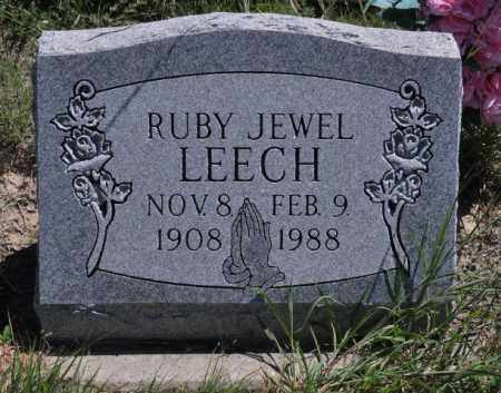 LEECH, RUBY JEWEL - Bent County, Colorado | RUBY JEWEL LEECH - Colorado Gravestone Photos