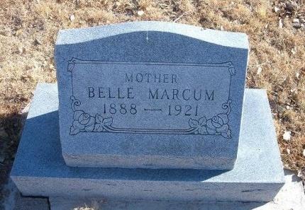MARCUM, BELLE - Bent County, Colorado | BELLE MARCUM - Colorado Gravestone Photos
