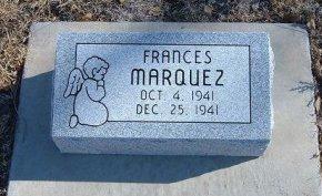 MARQUEZ, FRANCES - Bent County, Colorado | FRANCES MARQUEZ - Colorado Gravestone Photos