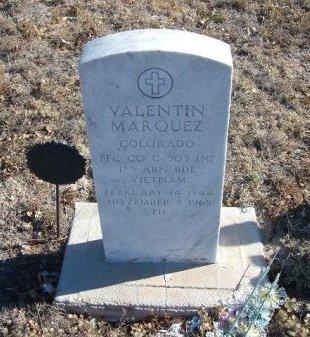 MARQUEZ (VETERAN VIET KIA), VALENTIN - Bent County, Colorado | VALENTIN MARQUEZ (VETERAN VIET KIA) - Colorado Gravestone Photos