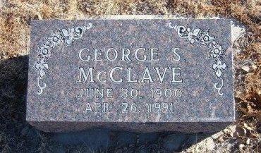 MCCLAVE, GEORGE SHEPARD - Bent County, Colorado | GEORGE SHEPARD MCCLAVE - Colorado Gravestone Photos