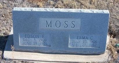 MOSS, ERMA C - Bent County, Colorado | ERMA C MOSS - Colorado Gravestone Photos