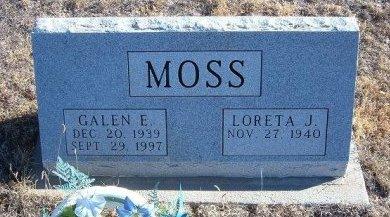 MOSS, GALEN E - Bent County, Colorado   GALEN E MOSS - Colorado Gravestone Photos