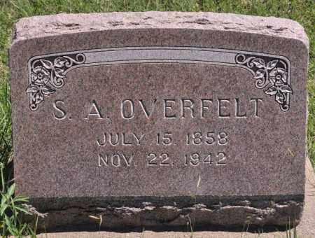 OVERFELT, S. A. - Bent County, Colorado | S. A. OVERFELT - Colorado Gravestone Photos