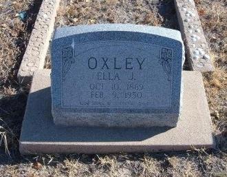 OXLEY, ELLA J - Bent County, Colorado   ELLA J OXLEY - Colorado Gravestone Photos