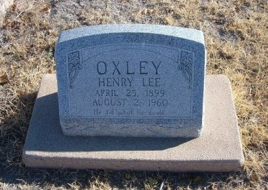OXLEY, HENRY LEE - Bent County, Colorado | HENRY LEE OXLEY - Colorado Gravestone Photos