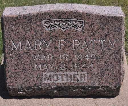 PATTY, MARY F - Bent County, Colorado | MARY F PATTY - Colorado Gravestone Photos