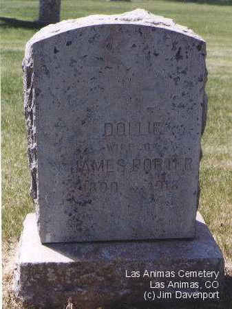 PORTER, DOLLIE - Bent County, Colorado | DOLLIE PORTER - Colorado Gravestone Photos