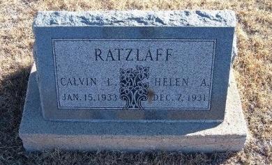 RATZLAFF, HELEN A - Bent County, Colorado | HELEN A RATZLAFF - Colorado Gravestone Photos