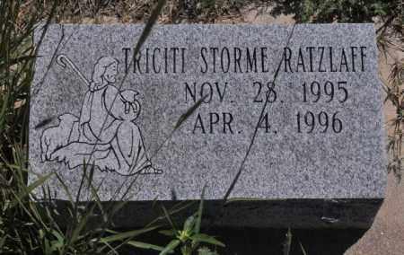 RATZLAFF, TRICITI STORME - Bent County, Colorado   TRICITI STORME RATZLAFF - Colorado Gravestone Photos