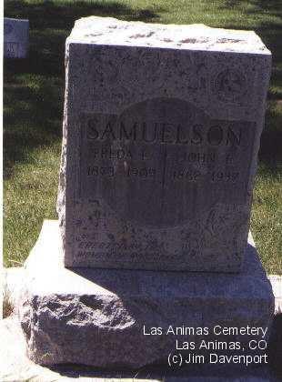 SAMUELSON, JOHN E. - Bent County, Colorado   JOHN E. SAMUELSON - Colorado Gravestone Photos