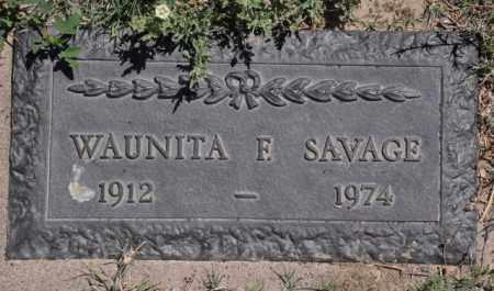 SAVAGE, WAUNITA F - Bent County, Colorado | WAUNITA F SAVAGE - Colorado Gravestone Photos