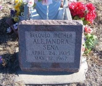 SENA, ALEJANDRA - Bent County, Colorado | ALEJANDRA SENA - Colorado Gravestone Photos