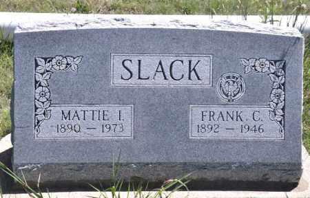 SLACK, MATTIE I - Bent County, Colorado   MATTIE I SLACK - Colorado Gravestone Photos