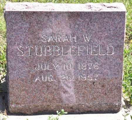 STUBBLEFIELD, SARAH W - Bent County, Colorado | SARAH W STUBBLEFIELD - Colorado Gravestone Photos
